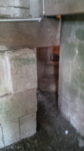 The small space we crawled through after climbing the stairs of the tower