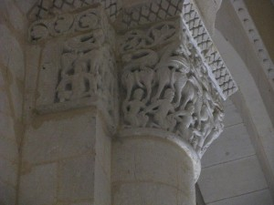 Capitals in the Interior of Saint Eutrope in Saintes